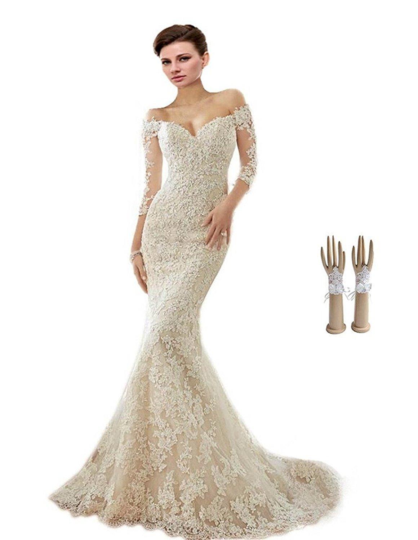 Off the shoulder appliques wedding dress cute dresses for Off the shoulders wedding dress