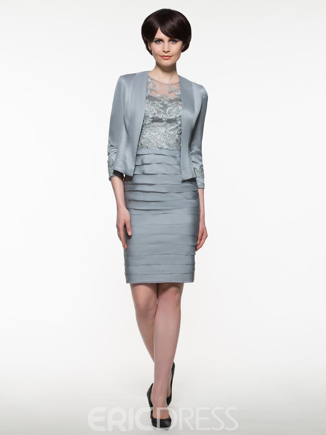 Luxury Mother Of The Groom Dresses Knee Length Vignette - All ...